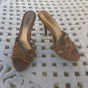 Mossimo Brown Open-Toed Heels